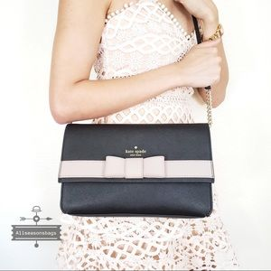 NWT Kate Spade Veronique Black Bow Crossbody Bag